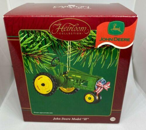 Carlton Cards Heirloom Collection John Deere Model H 106 Christmas Ornament NEW