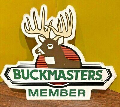 vintage Buckmasters Window Sticker Decal Deer Hunting