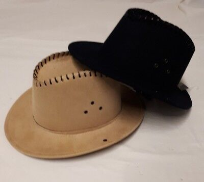 Cowboyhut Lederoptik Cowboy Kostüm Hut Dallas Westernhut Sheriff - Dallas Cowboy Kostüm