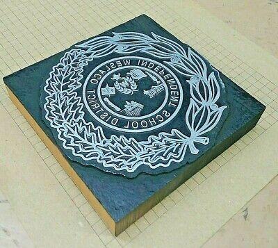Weslaco Isd Letterpress Printer Block Kelsey Printing Press
