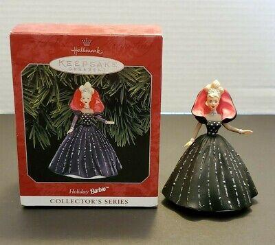 1998 Hallmark Keepsake Christmas Ornament 6th In Holiday Barbie Series