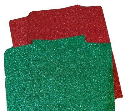Glitter Foam Sheets (4 Glitter FOAM SHEETS FOR ART AND CRAFT red, green)