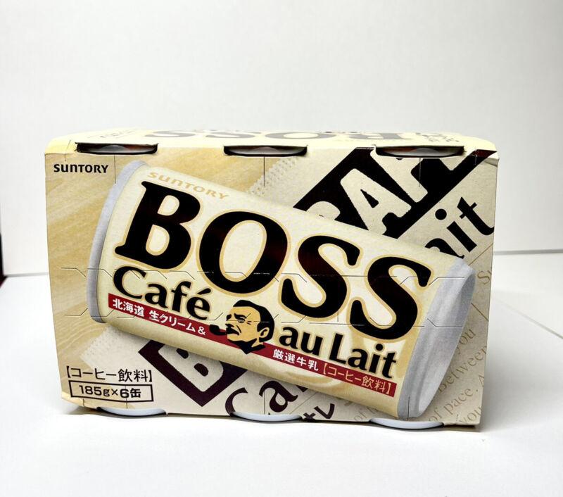 Suntory Boss Café  Au Lait Japan 🇯🇵 Pack 6 Cans