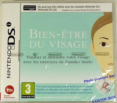 NINTENDO DS jeu video BIEN ETRE DU VISAGE exercices compatible console 3ds NEUF