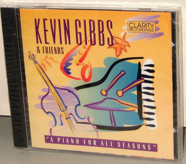 CLARITY CD CCD-1004: Kevin Gibbs - A Piano For All Seasons - OOP 1993 USA SS