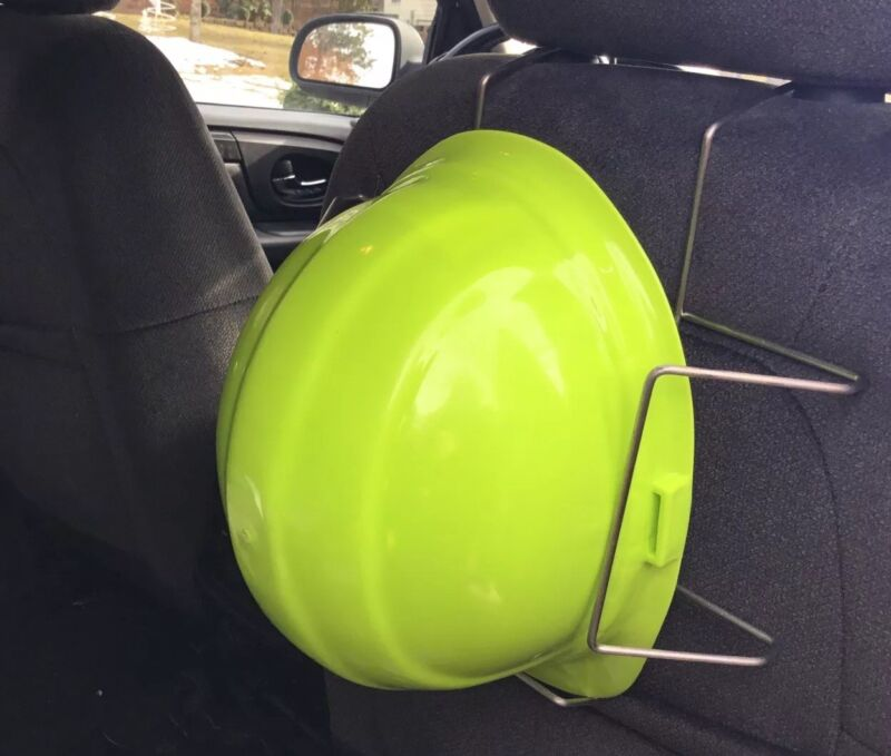 PSSI Adjustable Corrosion Resistant Seat Mount Hard Hat Holder Storage Rack