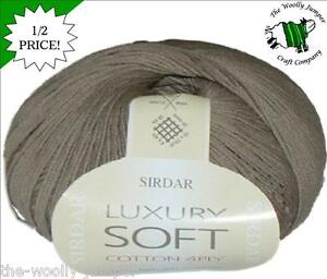 1-2-PRICE-SIRDAR-LUXURY-SOFT-COTTON-4-PLY-KNITTING-CROCHET-YARN-SHADE-656