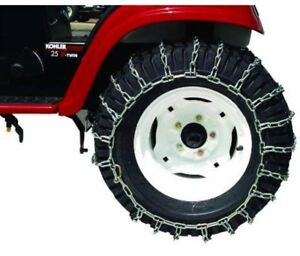 Lawn tractor chains SET.