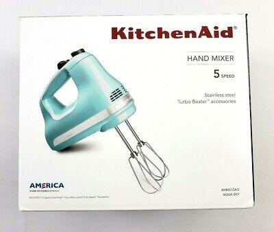 KitchenAid 5 Speed Ultra Power Hand Mixer - Aqua Sky KHM512