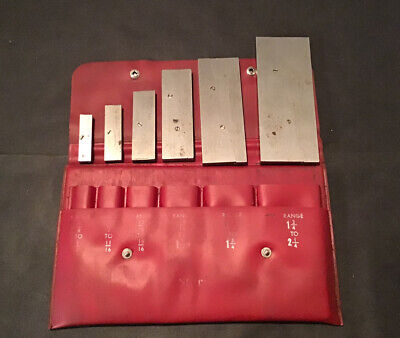 Vintage L. S. Starrett S154 A-f Adjustable Parallel Set Of 6 Size 38 To 2-14