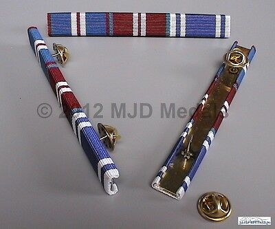 GOLDEN JUBILEE + DIAMOND JUBILEE MEDAL + POLICE LONG SERVICE MEDAL RIBBON BAR