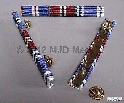 GOLDEN JUBILEE + DIAMOND JUBILEE MEDAL + POLICE LONG SERVICE MEDAL RIBBON BAR