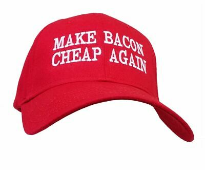 Funny Make Bacon Cheap Again Embroidered Otto Baseball Cap-Red](Cheap Funny)