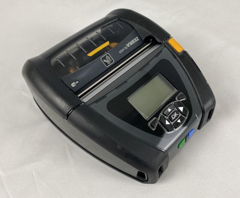 EXC! Zebra QLn420 Thermal Wireless Label Printer & 2x Batteries QN4-AUNA0M00-00