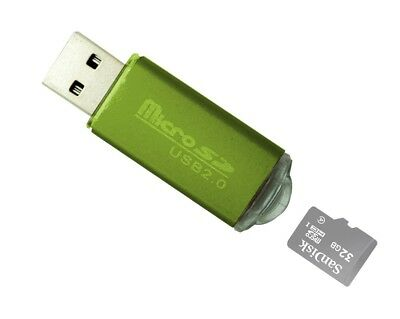 New Portable USB 2.0 Adapter Micro SD SDHC Memory Card Reader/Writer Flash Drive