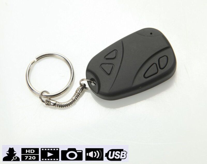 808 Keychain Camera Car Alarm Remote Recorder Dvr Real Hd...