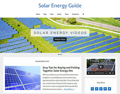 New Design Solar Energy Store Blog Website Business For Sale Auto Content