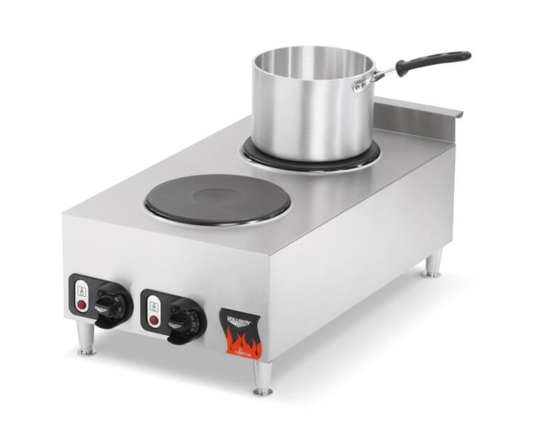 "Vollrath 40739 Cayenne 15"" Electric 2 Burner Hot Plate Range Counter Top"