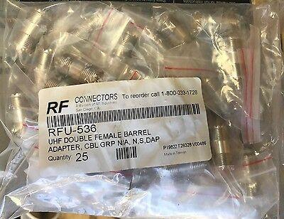 Rf Industries Rfu 536 Uhf Double Female Barrel Adapter  25 Pack