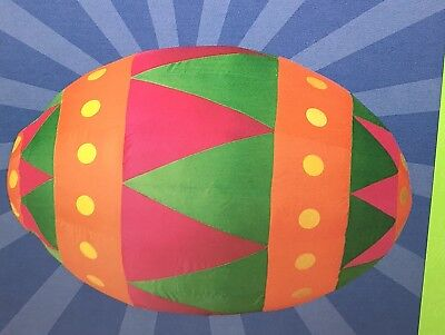 2006 Gemmy Multi-Colored Easter Egg Inflatable Yard Decoration 3 feet EUC  - Easter Inflatable Yard Decorations