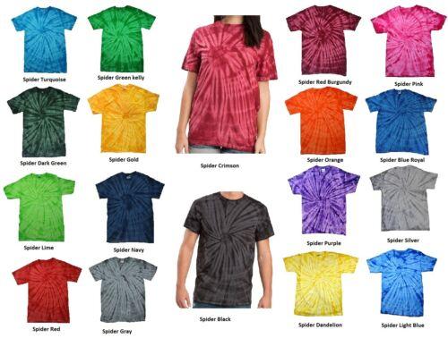 T-Shirts Plain Colors Tie Dye Style Kids and Adult Colortone 100% Cotton 5.3 Oz