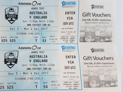 Ashes day-night test - Adelaide - Day 3 - Best seats in the house