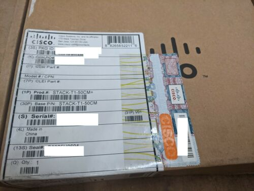 NEW SEALED CISCO STACK-T1-50CM SHIPS SAME DAY FROM USA!