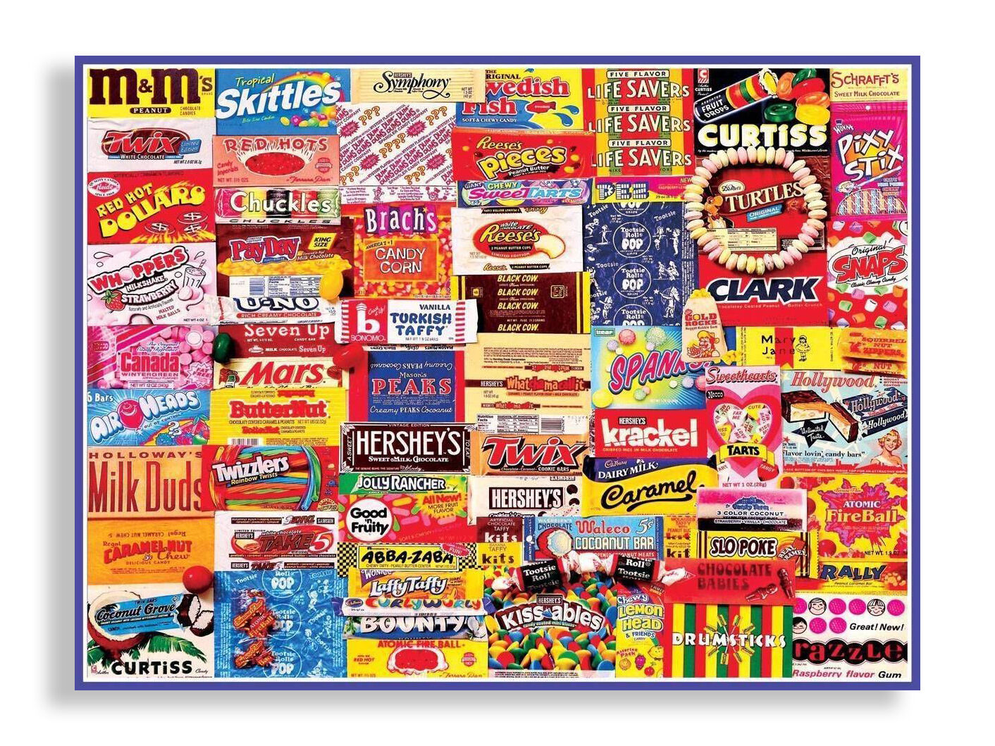 Candy Wrappers Puzzle from White Mountain