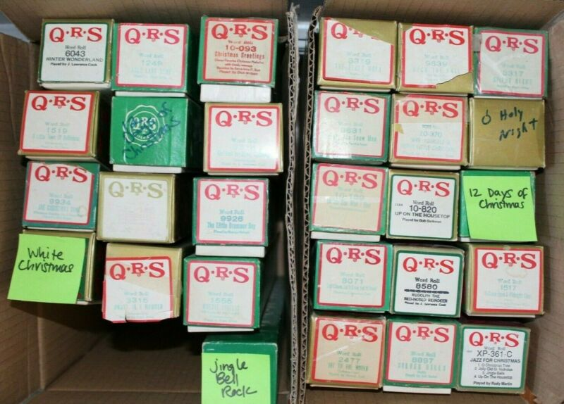 QRS Player Piano Word Roll - Choose 5 - Christmas/Holiday Music