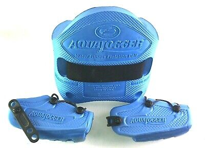 AquaJogger Fit Belt WATER WORKOUT Low-Impact Pool Fitness Petite Women BLUE AP73