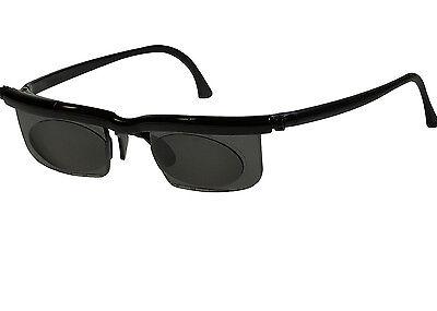 New! Adjustable HD Dial Eye Glasses Vision Reader UVA & UVB Lenses Glasses Case