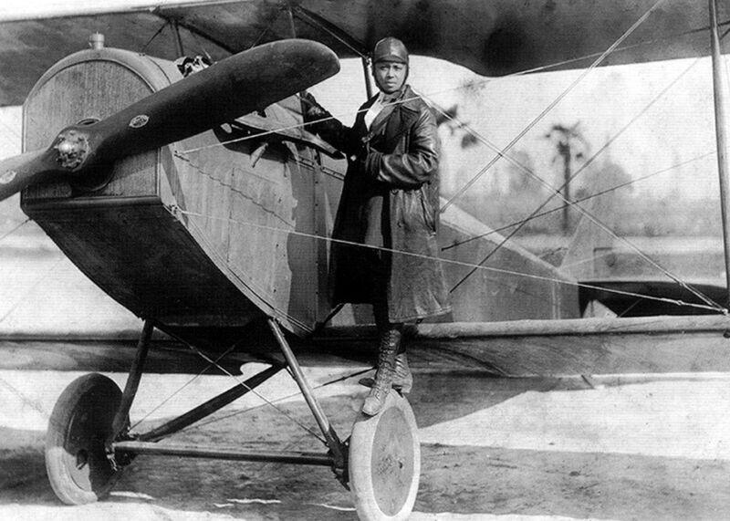 Bessie Coleman First African-American Person to hold International Pilot License