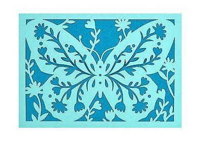 Acebo Azul Mariposa Tarjeta Juego - 10 & a Envelopes-Portico Diseño