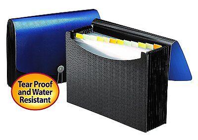 File Pocket Expanding Folder Office Organizer Document Paper Storage Letter Size