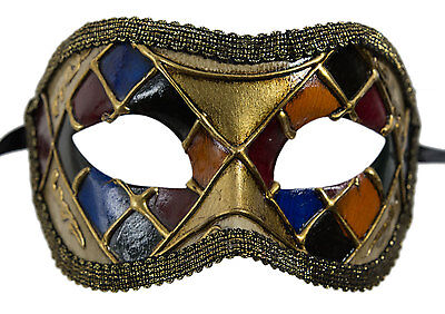 Mask from Venice Colombine Mosaic Golden Costume-Ball Masquerade - 687 -V82