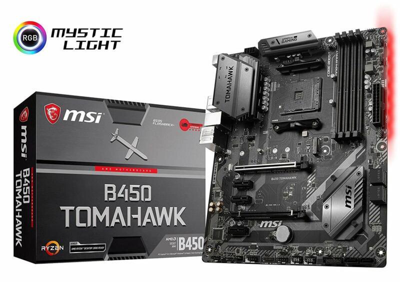 MSI Arsenal Gaming AMD Ryzen 1st & 2nd Gen AM4 DDR4 Motherboard (B450 Tomahawk)