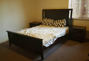 Queen bed + mattress + 2 bedside tables Fitzroy North Yarra Area Preview