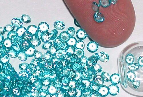 30pc. tiny little Crystals rhinestone gems for bottle fairy glitter 3mm AQ Blue
