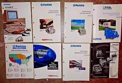 Perkins Engines Sales Brochures Literature 1997 Lot Of 8 Diesel Motor Mf