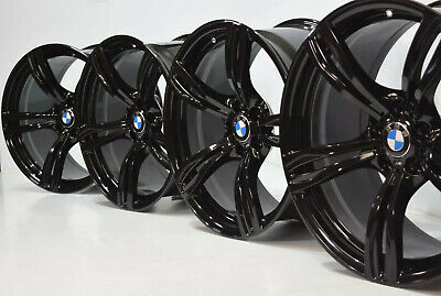 "20"" BMW 760i 750i 745i M6 FACTORY OEM BLACK GENUINE WHEELS RIMS 20 INCH"