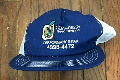 Vintage CIBA Seed Mesh Trucker Hat Snapback Hat Baseball Cap USA Made