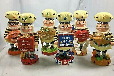 Hershey's Lot of 6 Thanksgiving 4th of July Christmas Halloween Patrick Figurine - Halloween Hershey