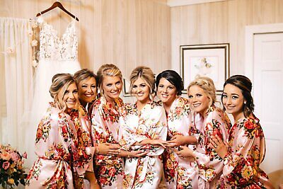 Personalized Wedding Robes (Personalized Gift, Personalized Bridesmaid Robes, Satin Robes, Wedding)