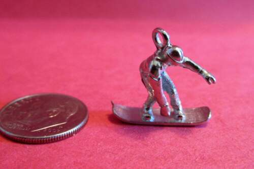 Twenty  Pewter  Snowboard Charms