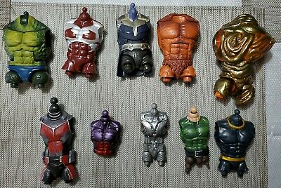 Marvel Legends BAF LOT CHEST TORSO SANDMAN SASQUATCH THANOS ABOMINATION 10 PIECE