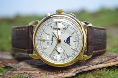 Breitling Datora Triple Calendar Chrono Moonphase in 18k Rosègold, Referenz 1939 - watch picture 1