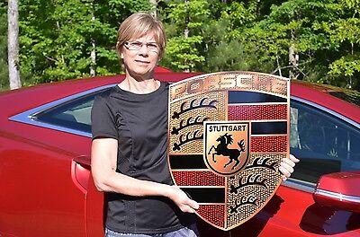 OLD STYLE EUROPEAN PORSCHE STUTTGART PANAMERA 911 CAYENNE BOXSTER HVY STEEL SIGN