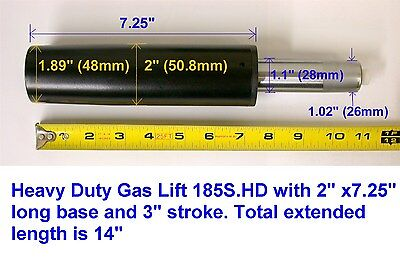 350 Lb Chair Lift - One Heavy Duty 185S.HD Chair Parts Gas Lift / 2 Inch Diameter Cylinder / 350lb