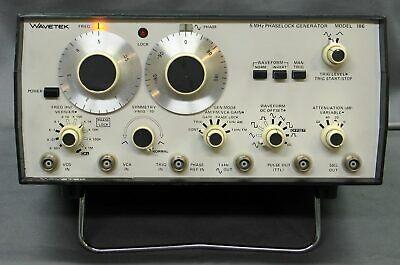 Wavetek 186 5mhz Phaselock Function Generator Refurbed Tested Good