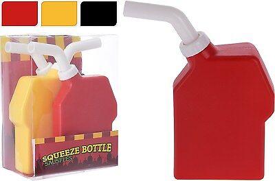 Set of 3 Sauce Bottles Ketchup Mustard Sauce Bottles Squeeze Bottles BBQ Picnic